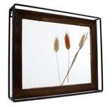 Gifts Amsterdam Fotolijst droogbloemen naturel glas/staal 30x25x5cm_
