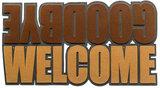 Balvi deurmat Welcome Goodbye 75 cm polyester bruin_