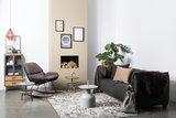 Luzo bijzettafel Johna 33/42 x 56 cm bruin_