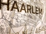 BRANDTHOUT Citymap Haarlem| houten wanddecoratie verschillende afmetingen | Naturel _