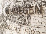 BRANDTHOUT Citymap Nijmegen  houten wanddecoratie verschillende afmetingen   Naturel _