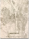 BRANDTHOUT Citymap Maastricht| houten wanddecoratie verschillende afmetingen | Naturel _