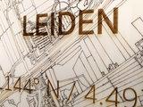 BRANDTHOUT Citymap Leiden  houten wanddecoratie verschillende afmetingen   Naturel _