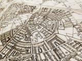 BRANDTHOUT Citymap Hilversum| houten wanddecoratie verschillende afmetingen | Naturel _