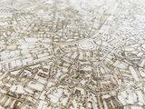 BRANDTHOUT Citymap Houten| houten wanddecoratie verschillende afmetingen | Naturel _