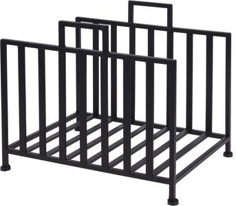 BBQ houtopslag standaard rechthoekig zwart