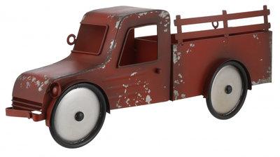 House of Seasons wanddecoratie auto 47,5 x 18 cm rood