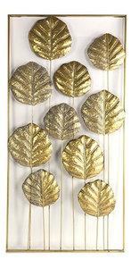Decostar wandversiering Grazia 55 x 3 x 110 cm staal goud