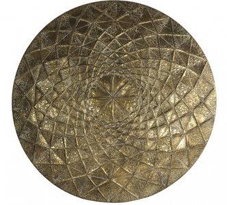 Decostar hangdecoratie Georgio 85,5 x 87 cm staal brons