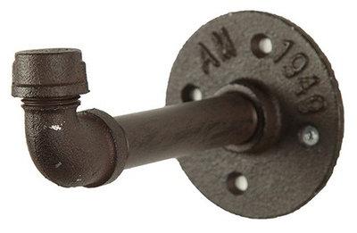CF label wandkapstok Ray 13,7 x 8,5 cm staal grijs