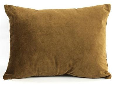 Decostar kussen Carola 30 x 40 x 14 cm textiel bruin