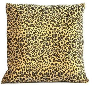 Decostar kussen Carola 40 x 40 x 15 cm textiel bruin/geel