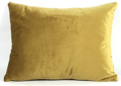 Decostar kussen Carola 30 x 40 x 14 cm textiel goud