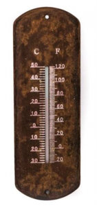 Gifts Amsterdam thermometer Rosti 10,5 x 30,5 cm staal bruin