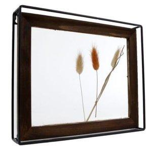 Gifts Amsterdam Fotolijst droogbloemen naturel glas/staal 30x25x5cm
