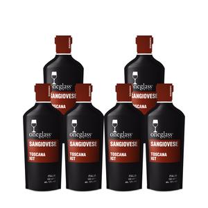 ONEGLASS | SANGIOVESE pakket | 6x 100ml | Een glas overheerlijke rode wijn