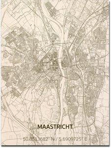 BRANDTHOUT Citymap Maastricht| houten wanddecoratie verschillende afmetingen | Naturel