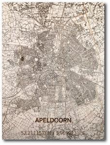 BRANDTHOUT Citymap Apeldoorn| houten wanddecoratie verschillende afmetingen | Naturel