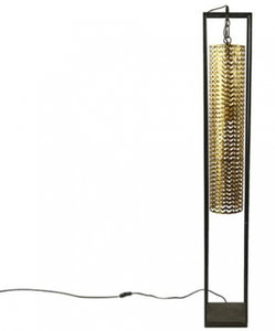 Countryfield staande lamp Phyliss 143,5 x 21 cm staal goud