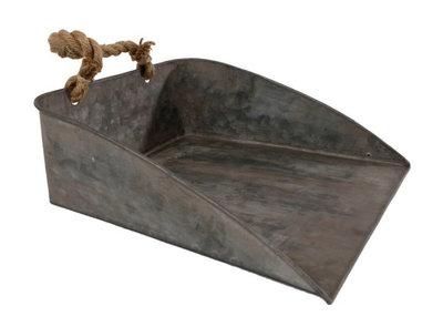 Gifts Amsterdam dienblad Scoop 30 x 28 cm zink / staal grijs