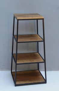 Boekenkast 4 planken| Mangohout & Staal | 90*45*45