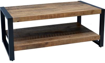 Britt Salontafel met plank |Mangohout & staal |110*60*45
