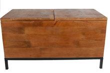 van Manen opbergbox 'Danique' met twee vakken 78x38x42 cm hout