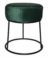 Rox Living kruk 32 x 38 cm fluweel/staal zwart/groen