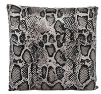 Countryfield kussen Nyoka 45 x 45 cm textiel beige/zwart