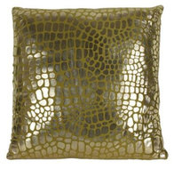 Countryfield kussen Dragon 45 x 45 cm polyester okergeel/goud